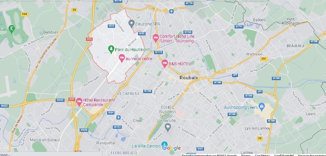 Où se situe Mouvaux (Code postal 59420)