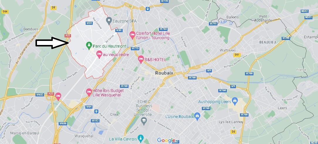 Où se situe Mouvaux