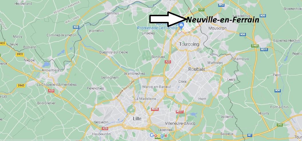 Où se situe Neuville-en-Ferrain