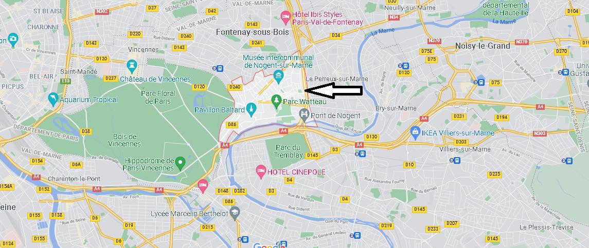 Où se situe Nogent-sur-Marne (Code postal 94130)