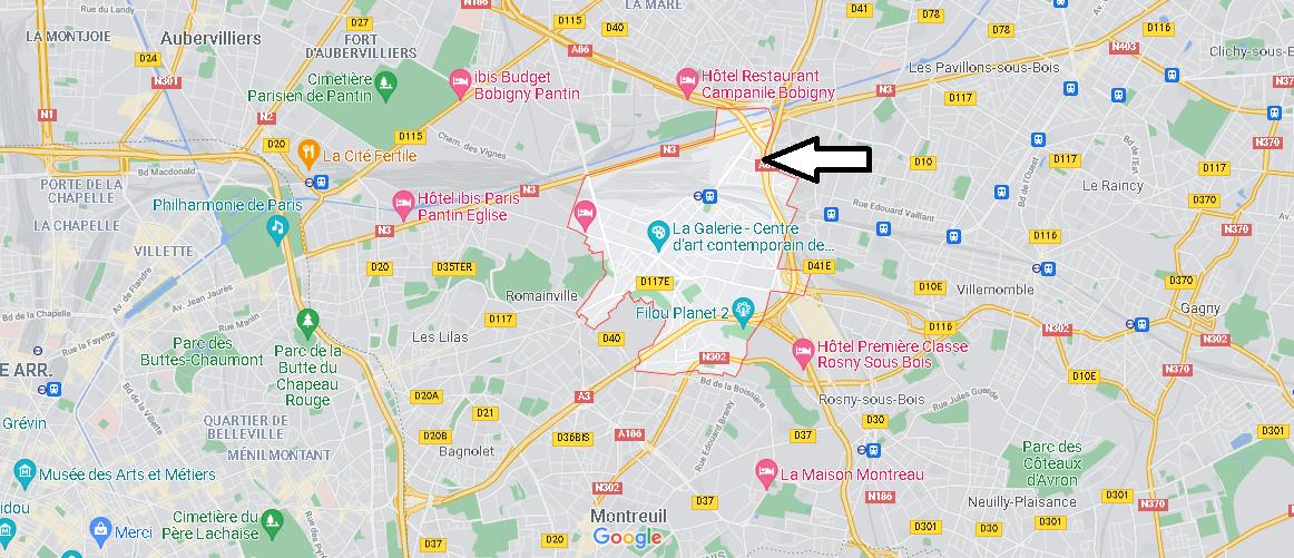 Où se situe Noisy-le-Sec (Code postal 93130)