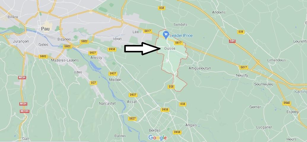 Où se situe Ousse (Code postal 64320)