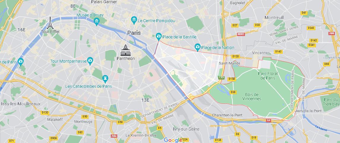 Où se situe Paris 12e