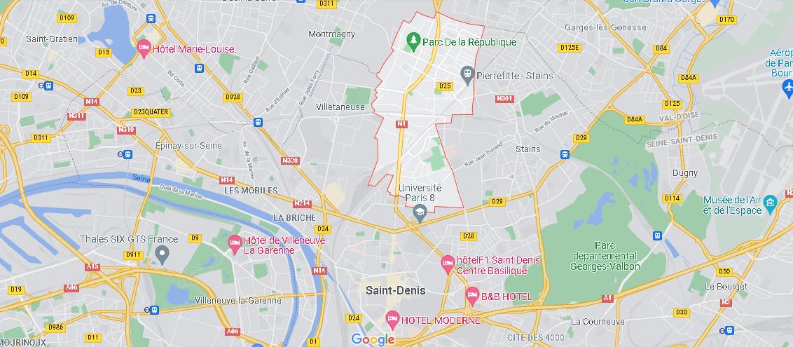 Où se situe Pierrefitte-sur-Seine