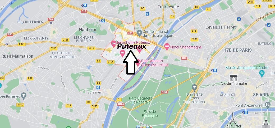 Où se situe Puteaux (Code postal 92800)