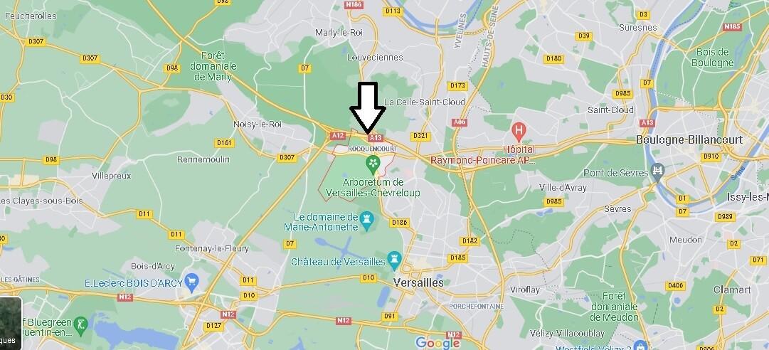 Où se situe Rocquencourt (Code postal 78150)