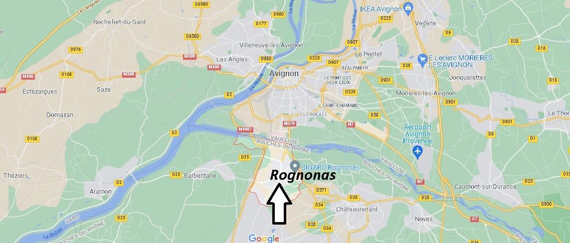 Où se situe Rognonas (Code postal 13870)