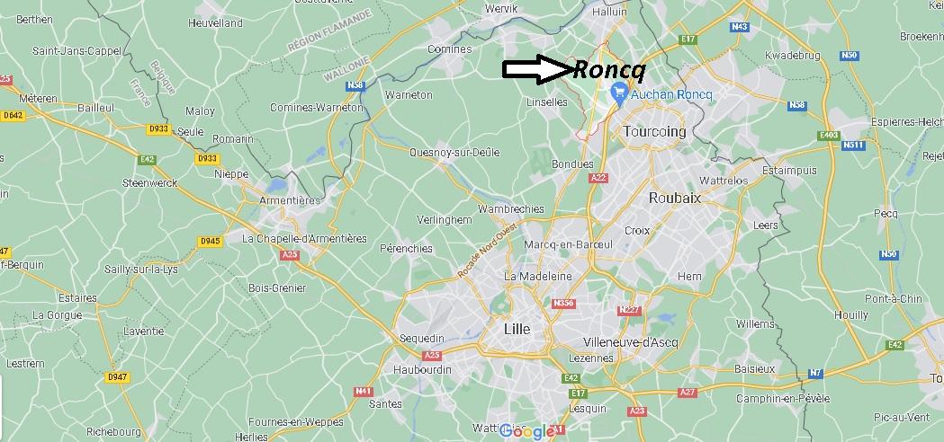 Où se situe Roncq (Code postal 59223)
