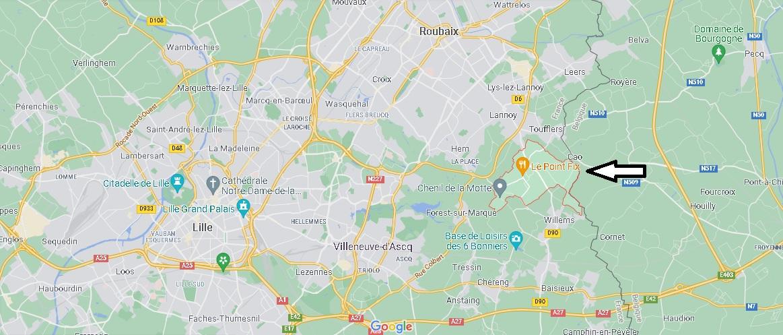 Où se situe Sailly-lez-Lannoy (Code postal 59390)