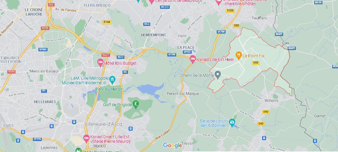 Où se situe Sailly-lez-Lannoy