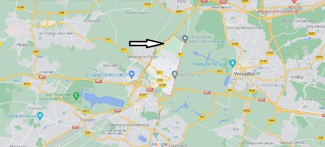 Où se situe Saint-Cyr-l-École (Code postal 78210)
