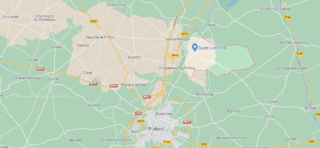 Où se situe Saint-Georges-lès-Baillargeaux (Code postal 86130)