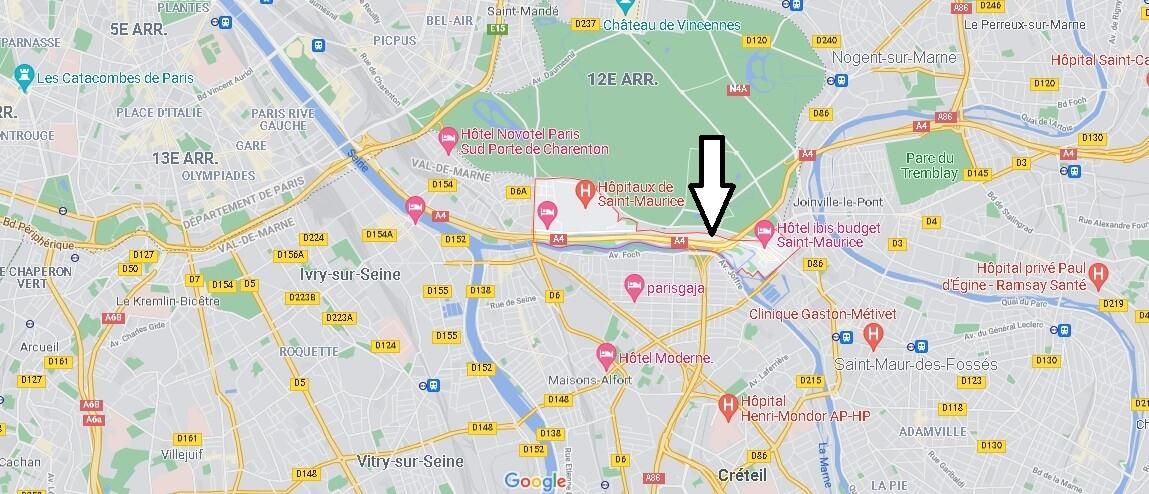 Où se situe Saint-Maurice (Code postal 94410)