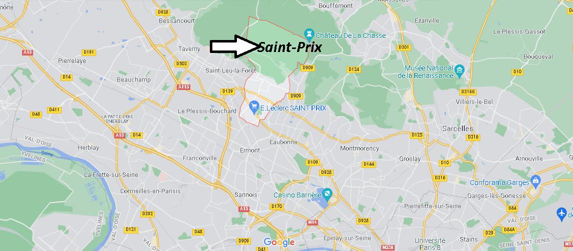 Où se situe Saint-Prix (Code postal 95390)