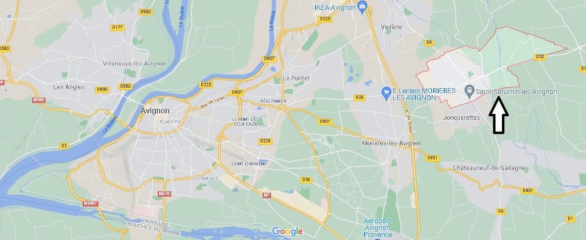 Où se situe Saint-Saturnin-lès-Avignon (Code postal 84450)