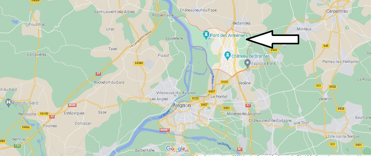 Où se situe Sorgues (Code postal 84700)