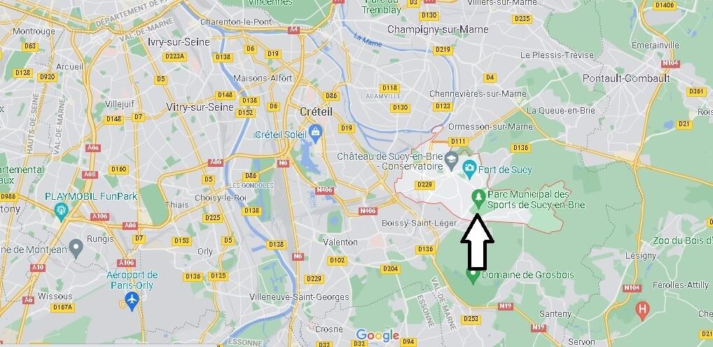 Où se situe Sucy-en-Brie (Code postal 94370)