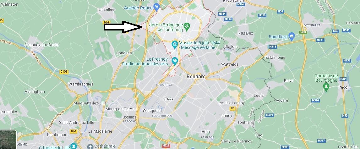 Où se situe Tourcoing