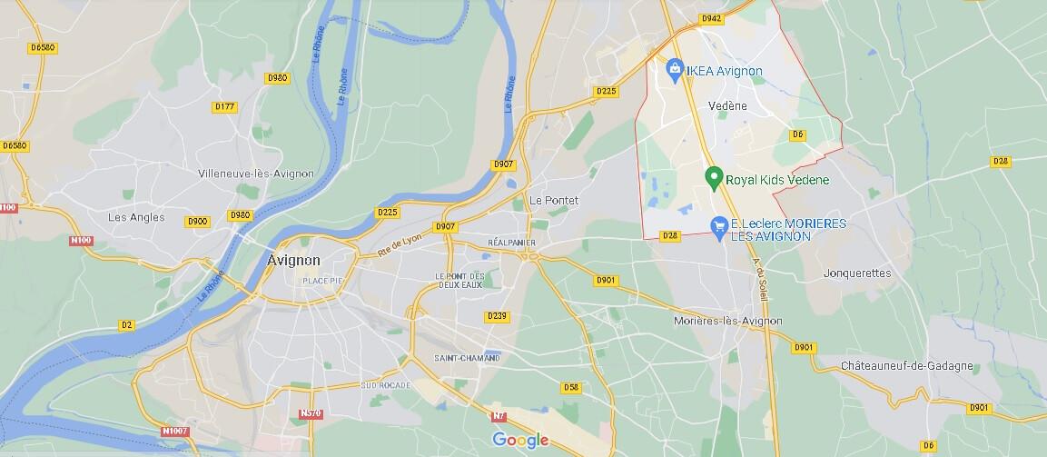 Où se situe Vedène (Code postal 84270)