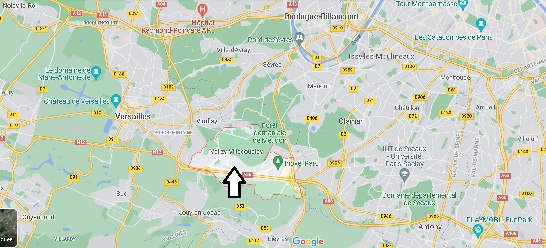 Où se situe Vélizy-Villacoublay (Code postal 78140)