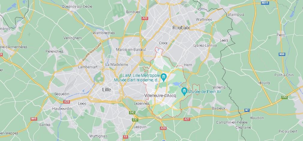 Où se situe Villeneuve-d-Ascq
