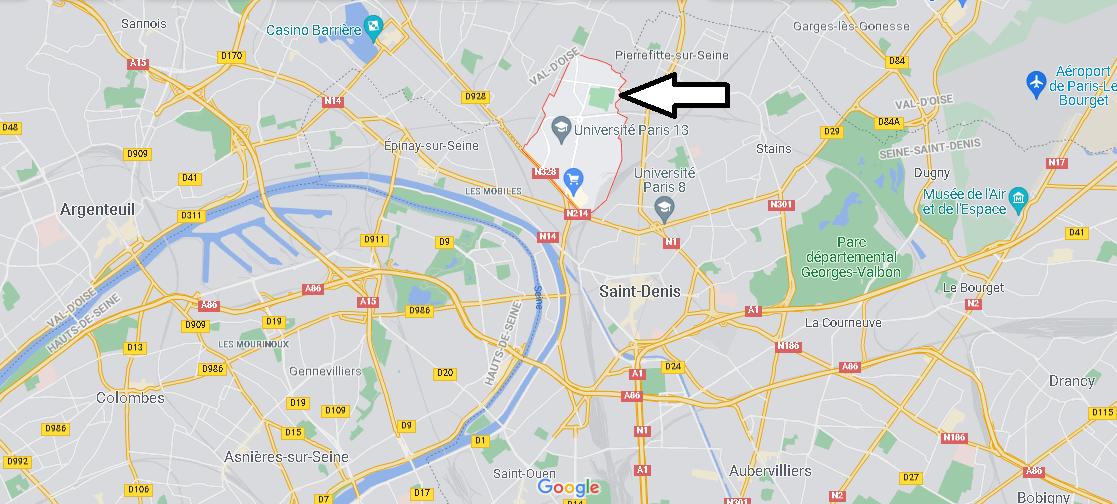 Où se situe Villetaneuse