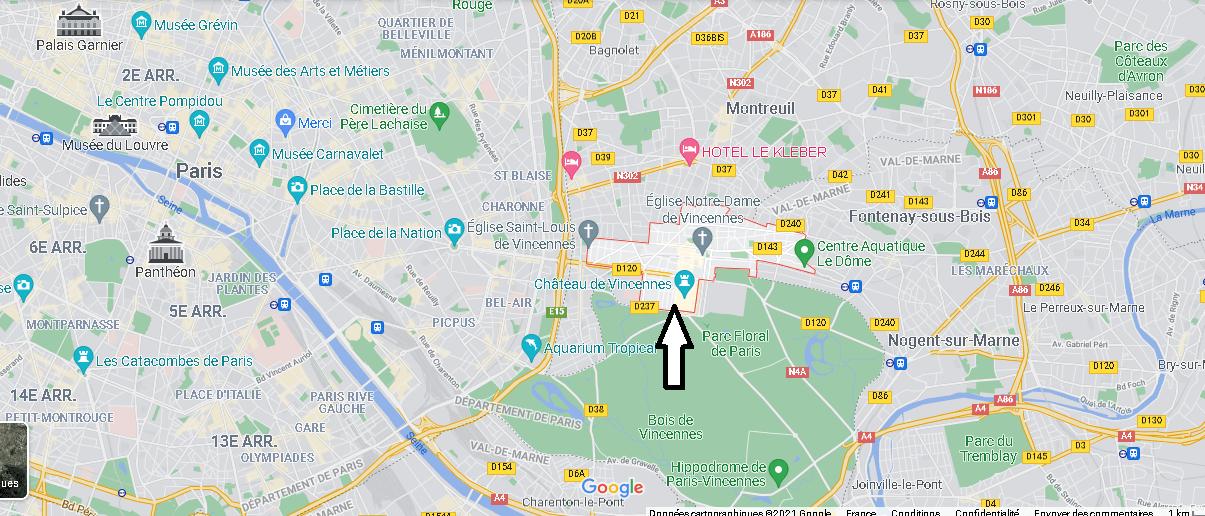 Où se situe Vincennes (Code postal 94300)