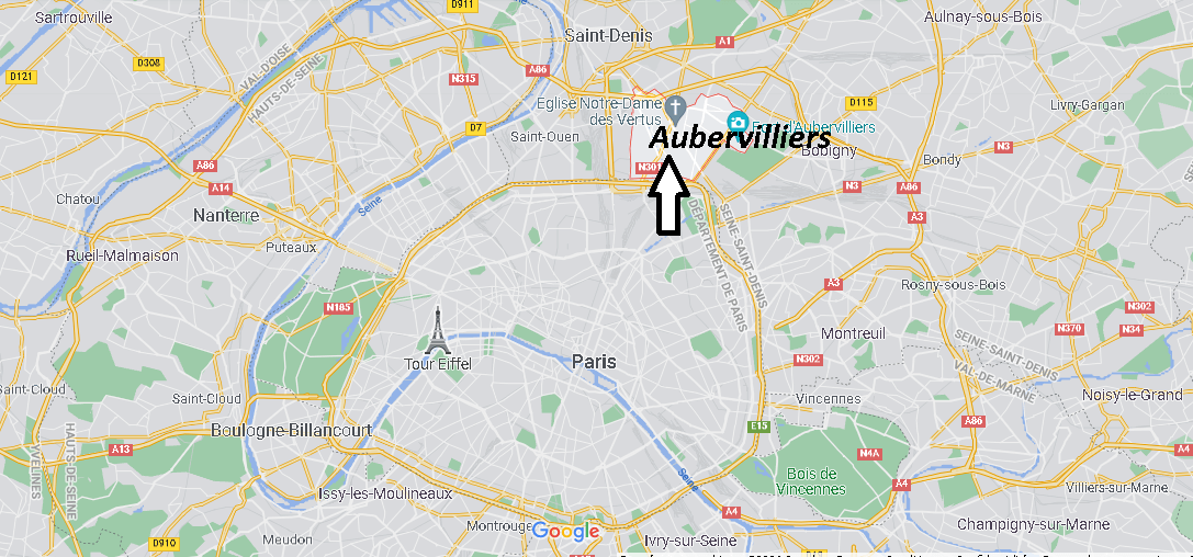 Où se trouve Aubervilliers