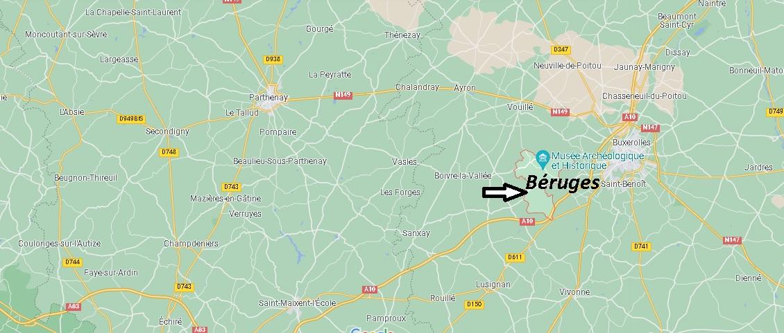 Où se trouve Béruges
