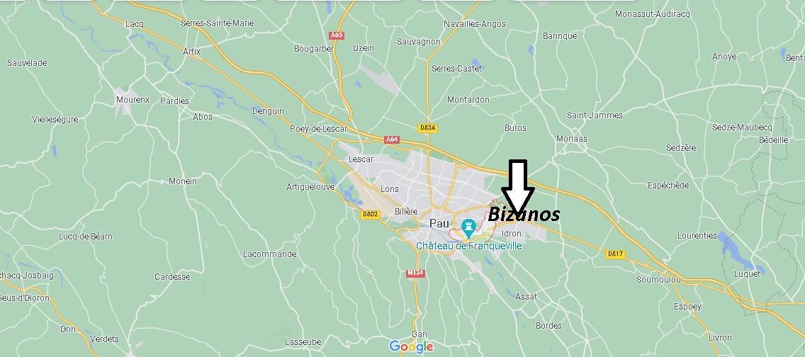 Où se trouve Bizanos