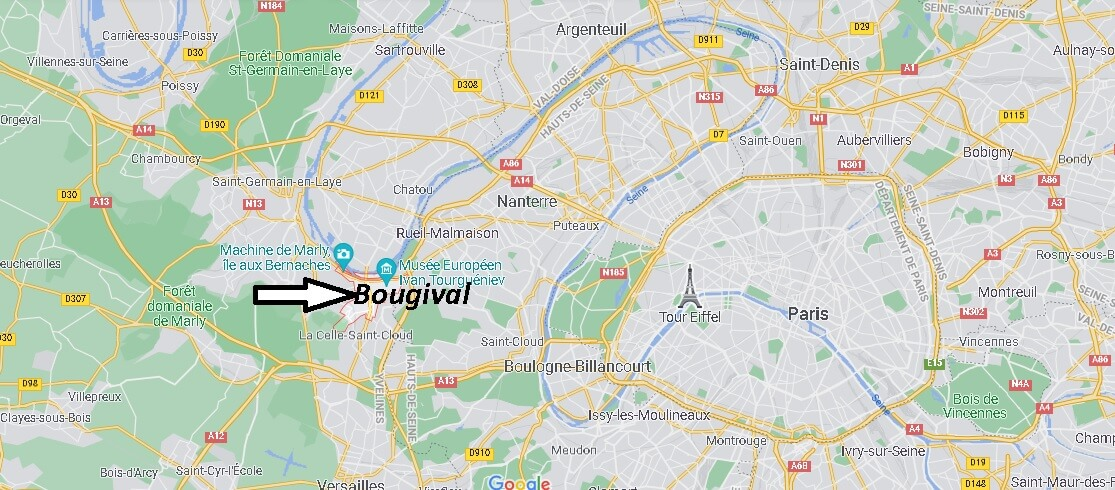 Où se trouve Bougival