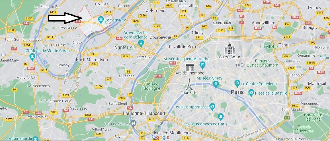 Où se trouve Carrières-sur-Seine
