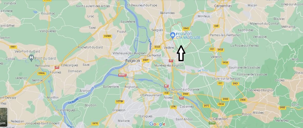 Où se trouve Entraigues-sur-la-Sorgue