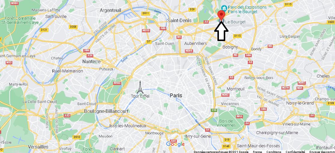 Où se trouve Le Bourget