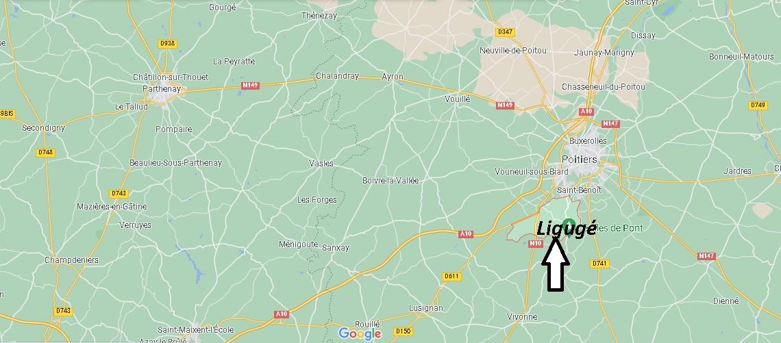Où se trouve Ligugé