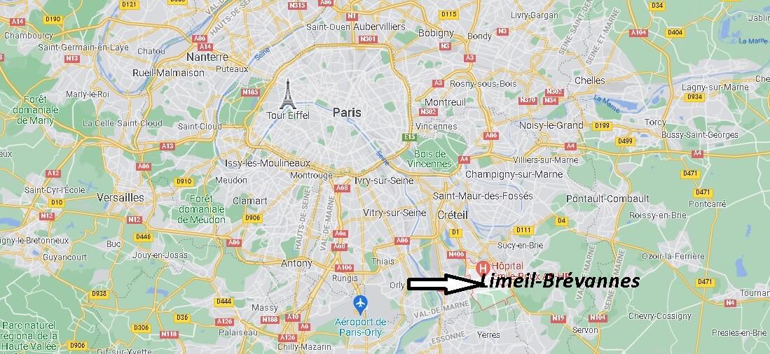 Où se trouve Limeil-Brévannes