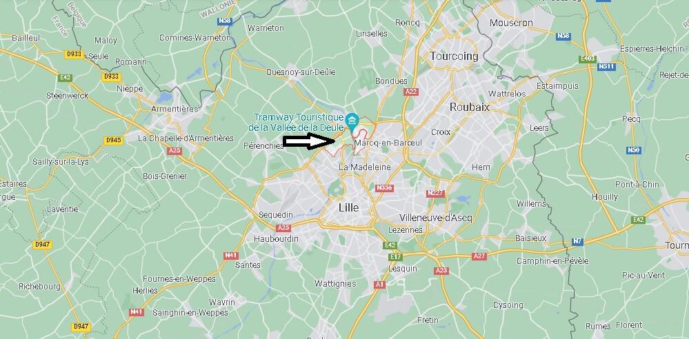 Où se trouve Marquette-lez-Lille