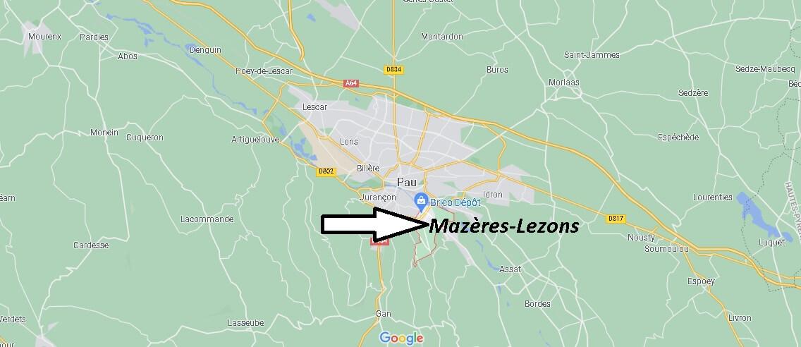 Où se trouve Mazères-Lezons