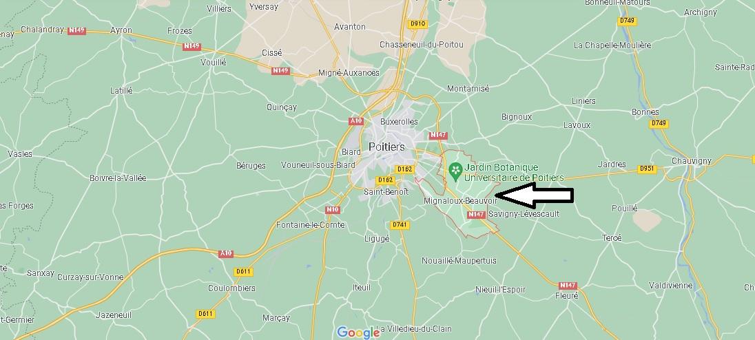 Où se trouve Mignaloux-Beauvoir
