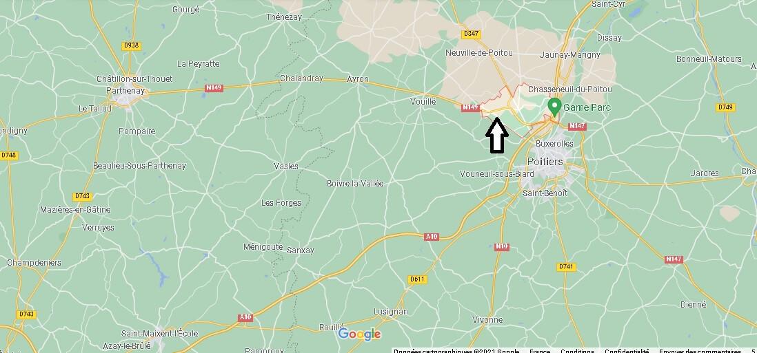 Où se trouve Migné-Auxances