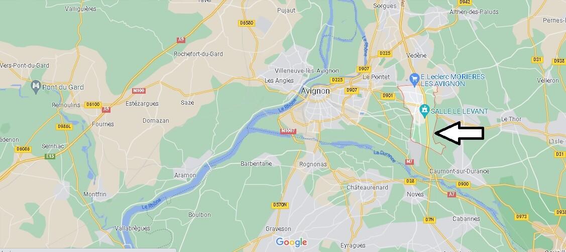 Où se trouve Morières-lès-Avignon