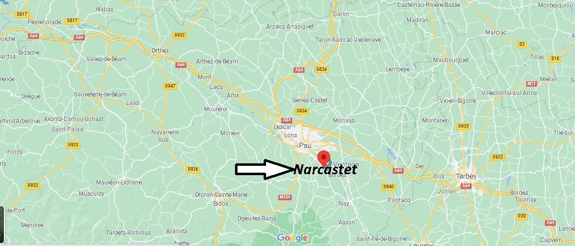 Où se trouve Narcastet