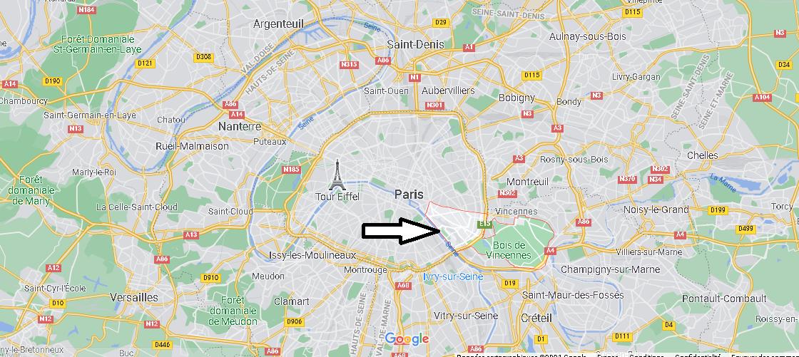 Où se trouve Paris 12e Arrondissement