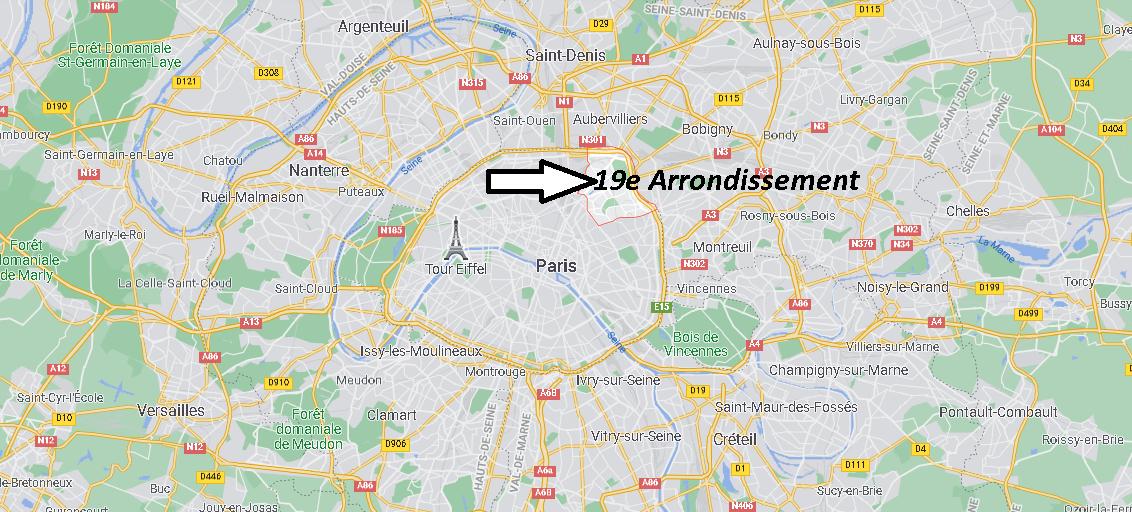 Où se trouve Paris 19e Arrondissement