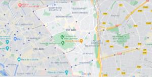 Où se trouve Paris 20e Arrondissement