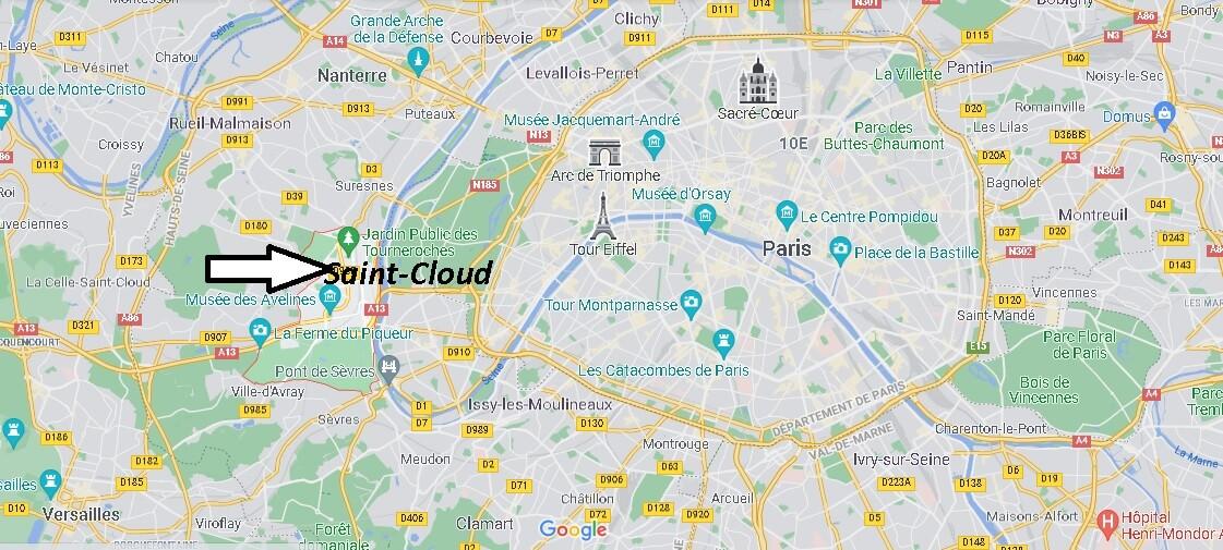 Où se trouve Saint-Cloud