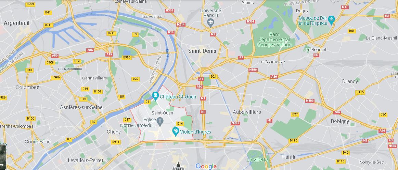Où se trouve Saint-Ouen