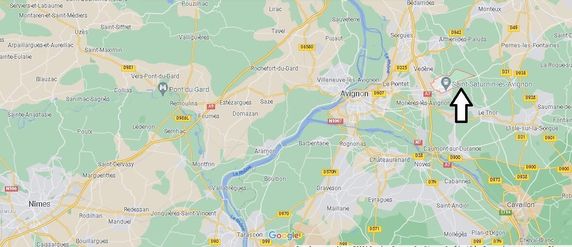 Où se trouve Saint-Saturnin-lès-Avignon