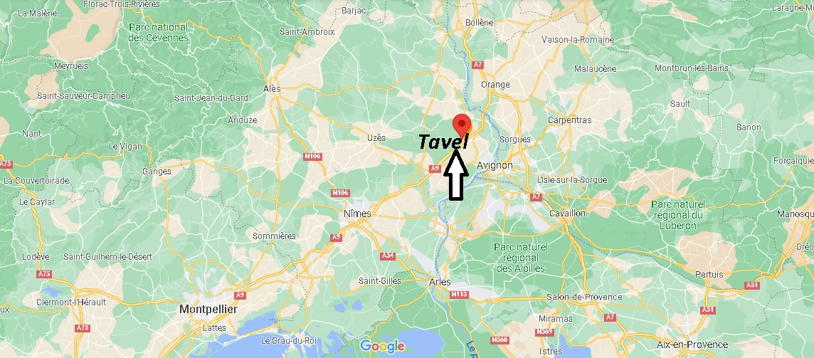 Où se trouve Tavel