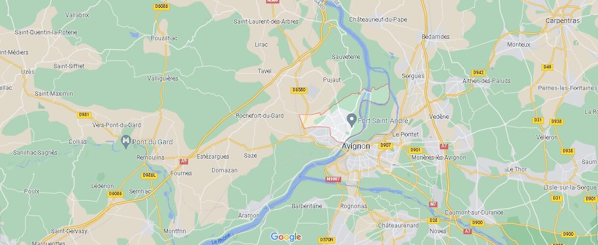Où se trouve Villeneuve-lès-Avignon